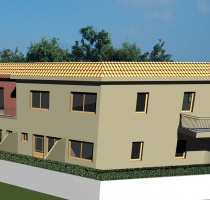 Empa II Maisonettes Back View
